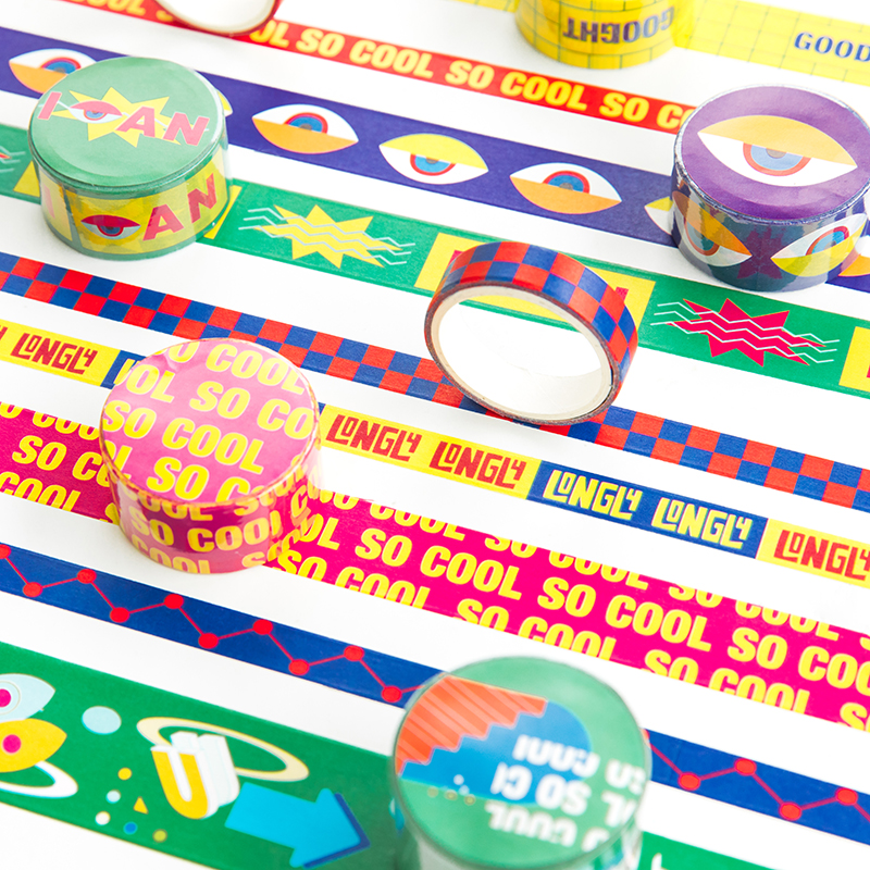 So Cool Paper Washi Tape Novelty Slogan Poster Adhesive Masking Tapes Stickers For Diary Decoration Home DIY Art School A6733