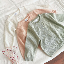 Spring Summer Baby Girl Hollow Out Knitted Cardigans Coat Toddler Newborn Long S