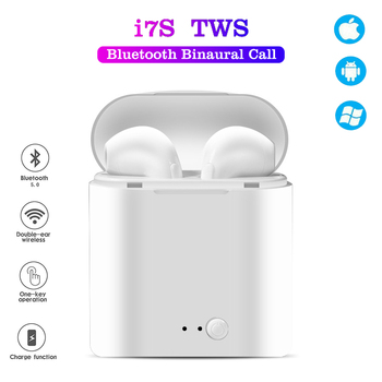 I7s TWS Bluetooth Earphone Stereo Earbud Bluetooth Headset with Charging Pod Wireless Headsets for All Smart Phone In-ear headph