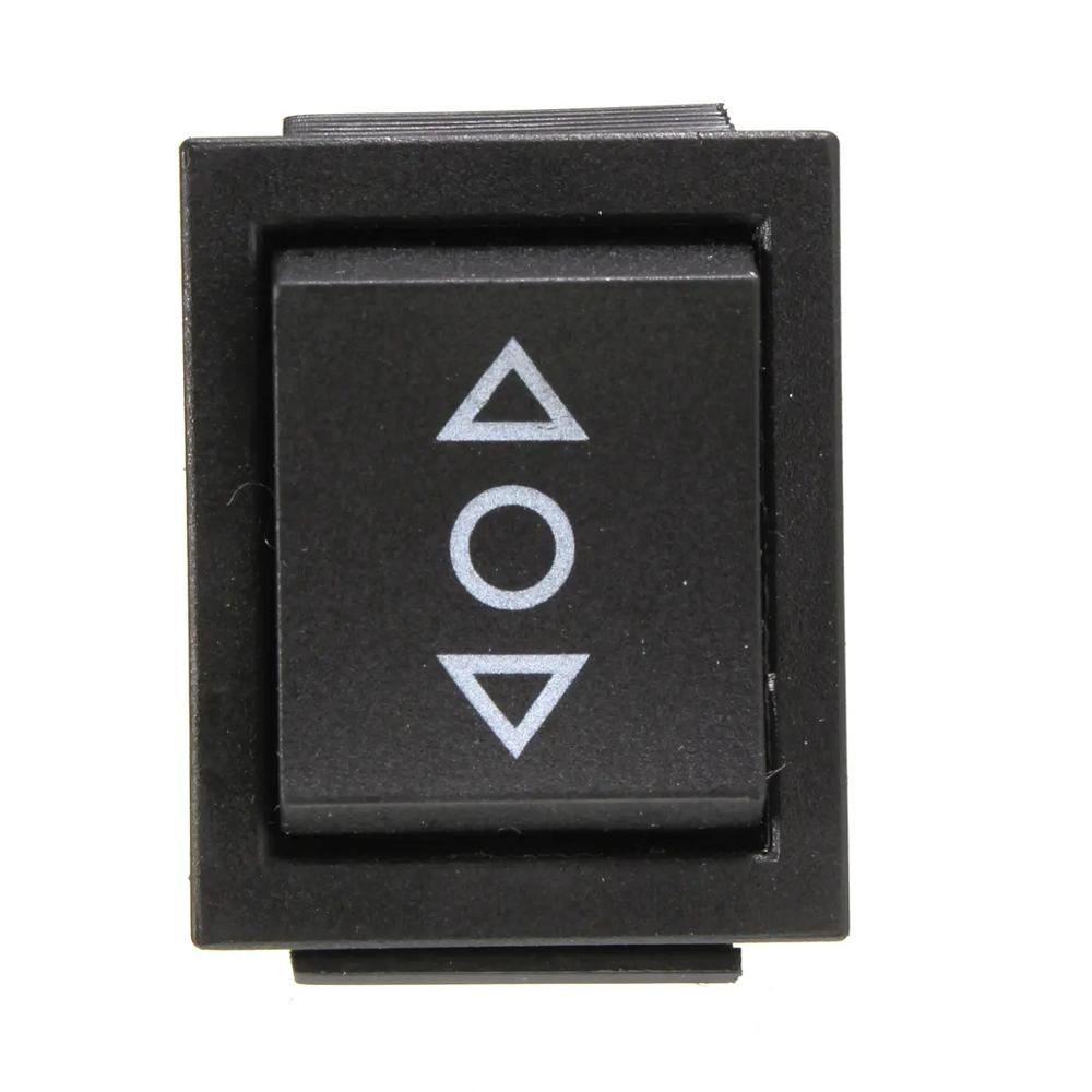 250V/10A 125V/15A 6-Pin DPDT Power Window Momentary Rocker Switch AC #a image