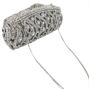 Image 5 - Boutique De FGG Hollow Out Crystal Women Clutches Evening Bags Wedding Party Cocktail Metal Minaudiere Diamond Handbag and Purse