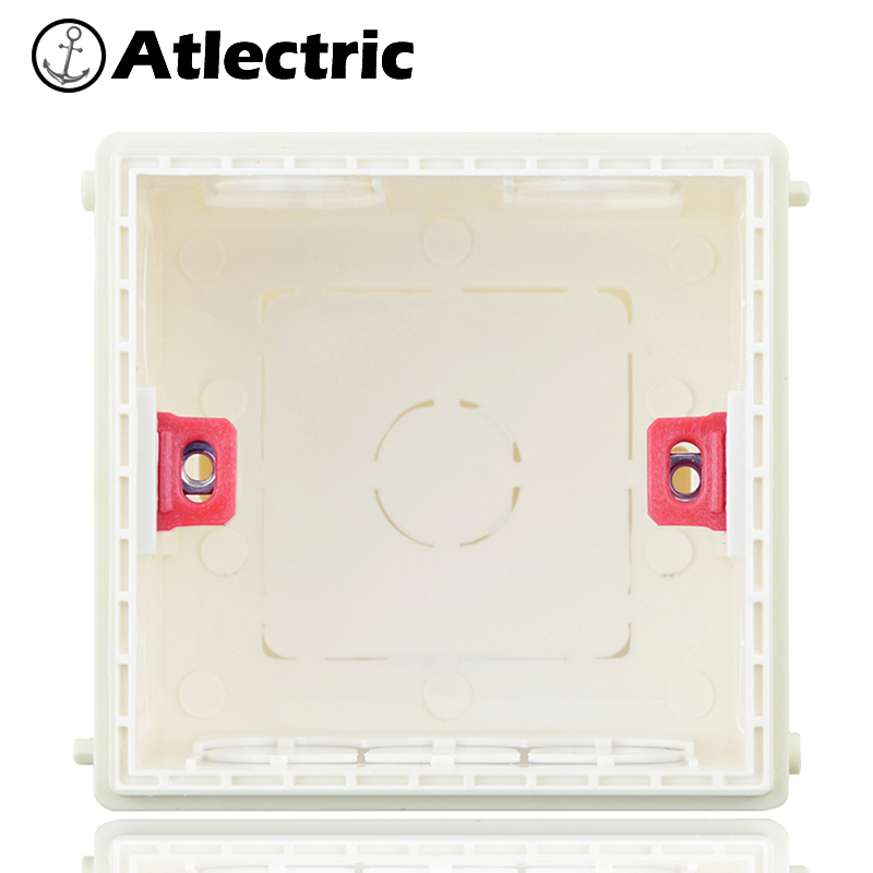 Atlectric Internal Mount Box Adjustable Mounting Box 86mm*86mm Type Wall Switch Socket Installation Cassette Box Wiring Back Box