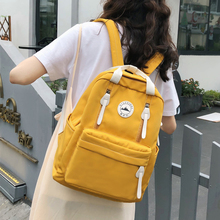 Multifunctional Waterproof Nylon Women Backpack Female Travel Backpack Korean Style Yellow School Bag for Teenage Girls Mochila