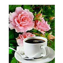 Diamant Mosaik Blume Hand Hobby DIY Decor Stickerei Malerei Kaffee Home Kunst