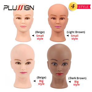 Image 2 - Plussign 20.5 Inch Mannequin Head For Wigs With Stand Bald Wig Head With Stand Foam Head For Make Up White And Dark Brown Color