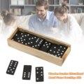 Holz Domino Bord Spiele Reise Lustige Tisch Spiel Domino Spielzeug Lehrmittel Doppel 6 Dominosteine Gesetzt Puzzle Karte Schwarz Dominosteine