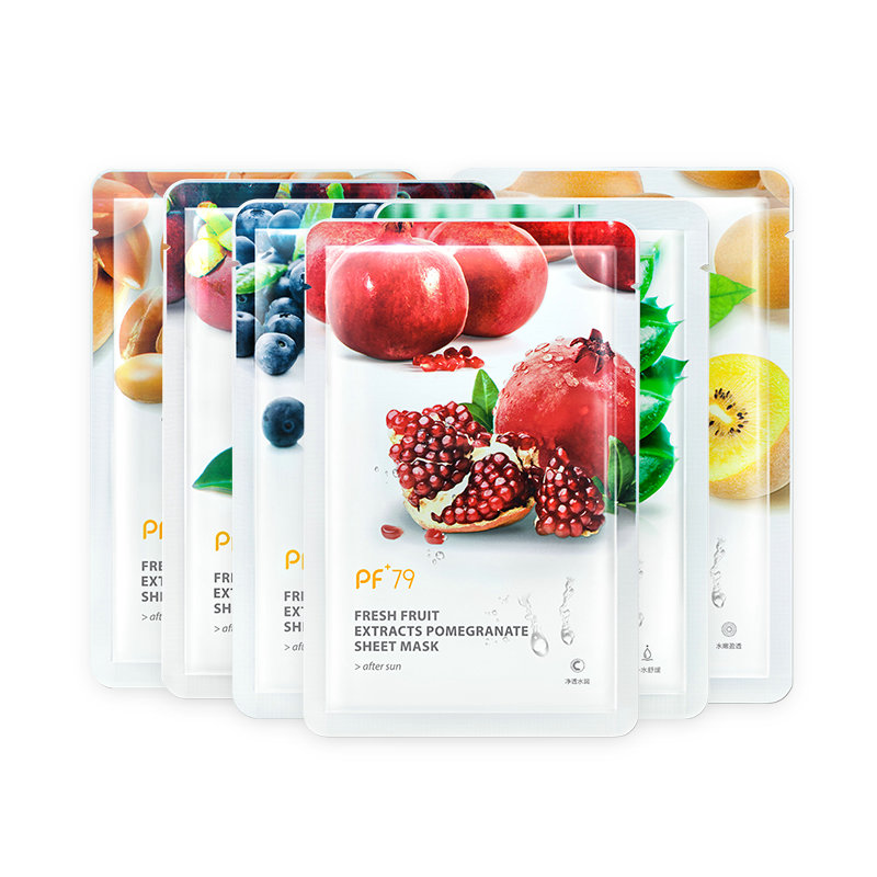 PF79 16 Pcs/lot Fruit Facial Mask Skin Care Mask For The Face Moisturizing Oil Control Blackhead Remover Sheet Face Mask