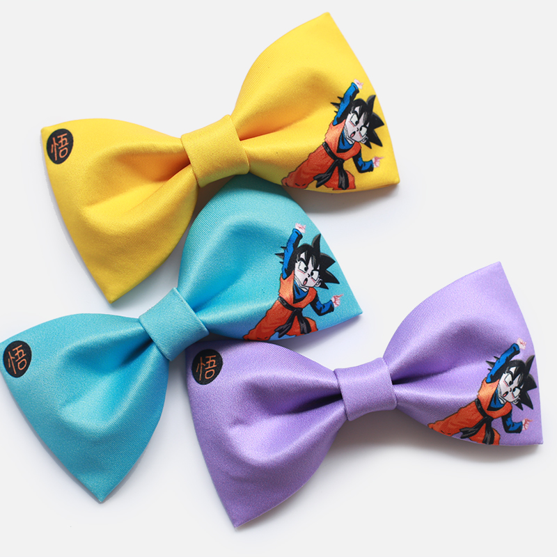 Men Dragon Ball Bowties Cotton Colorful Cartoon Monkey King Bow Ties Wedding Groomsman Christmas Bowtie Funny Male Gift For Boys