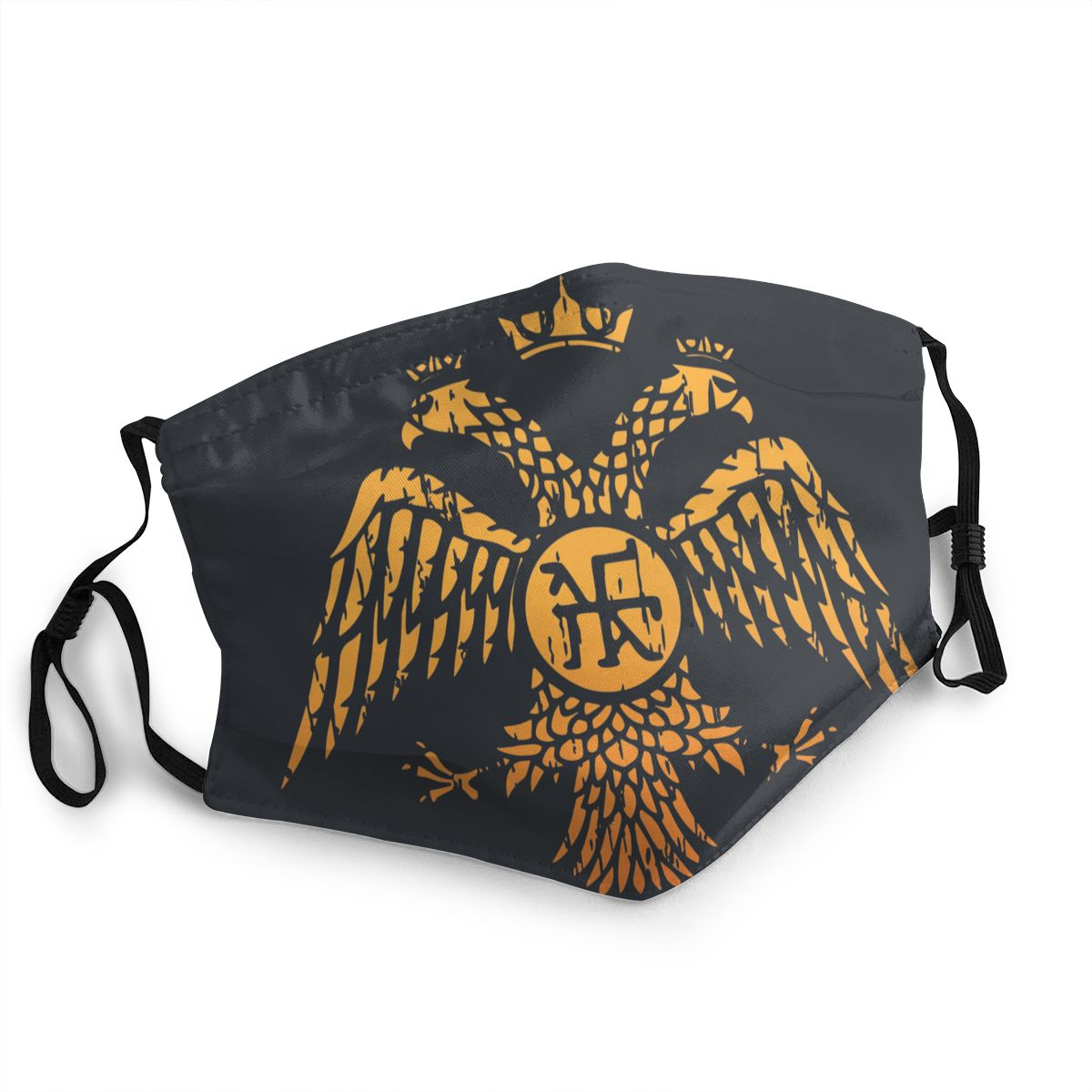 SPQR Byzantine Eagle Symbol Flag Adult Reusable Face Mask Pattern Anti Bacterial Dust Protection Mask Respirator Mouth Muffle