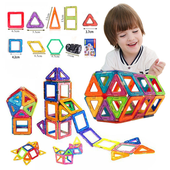 Big size/Mini Magnetic Building Blocks Magnetic Designer Construction Set Model Building Magnets Blocks kids Educational Toys цена 2017