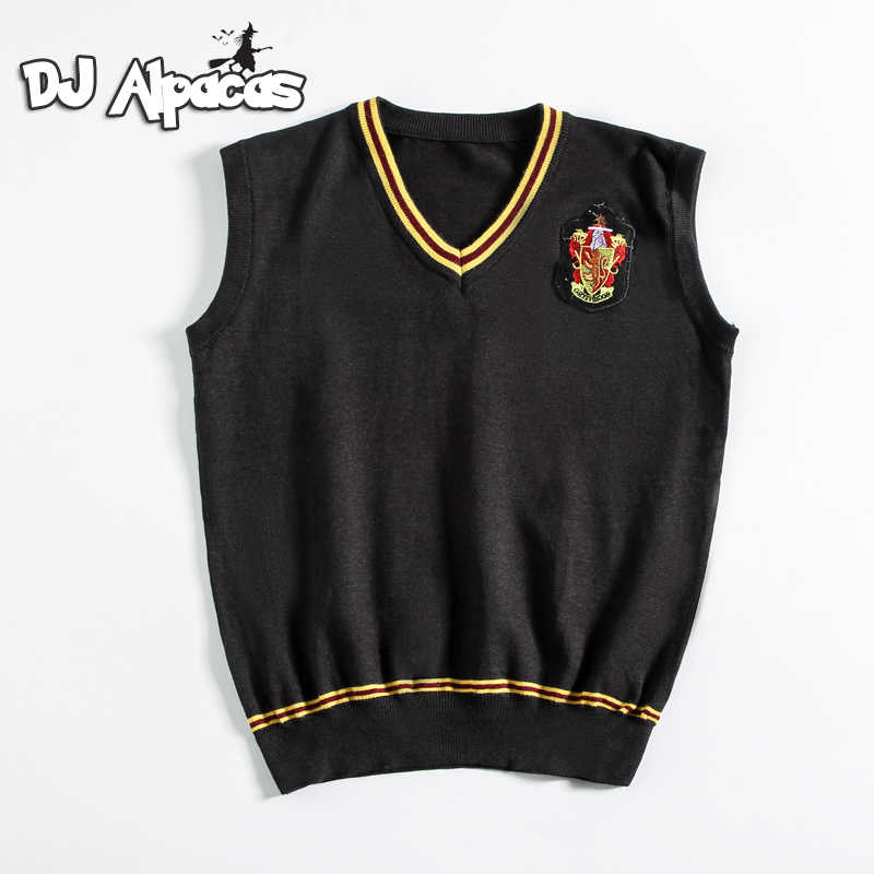 Hermione camisola cosplay com gravata colete all-match diário roupas potter cosplay