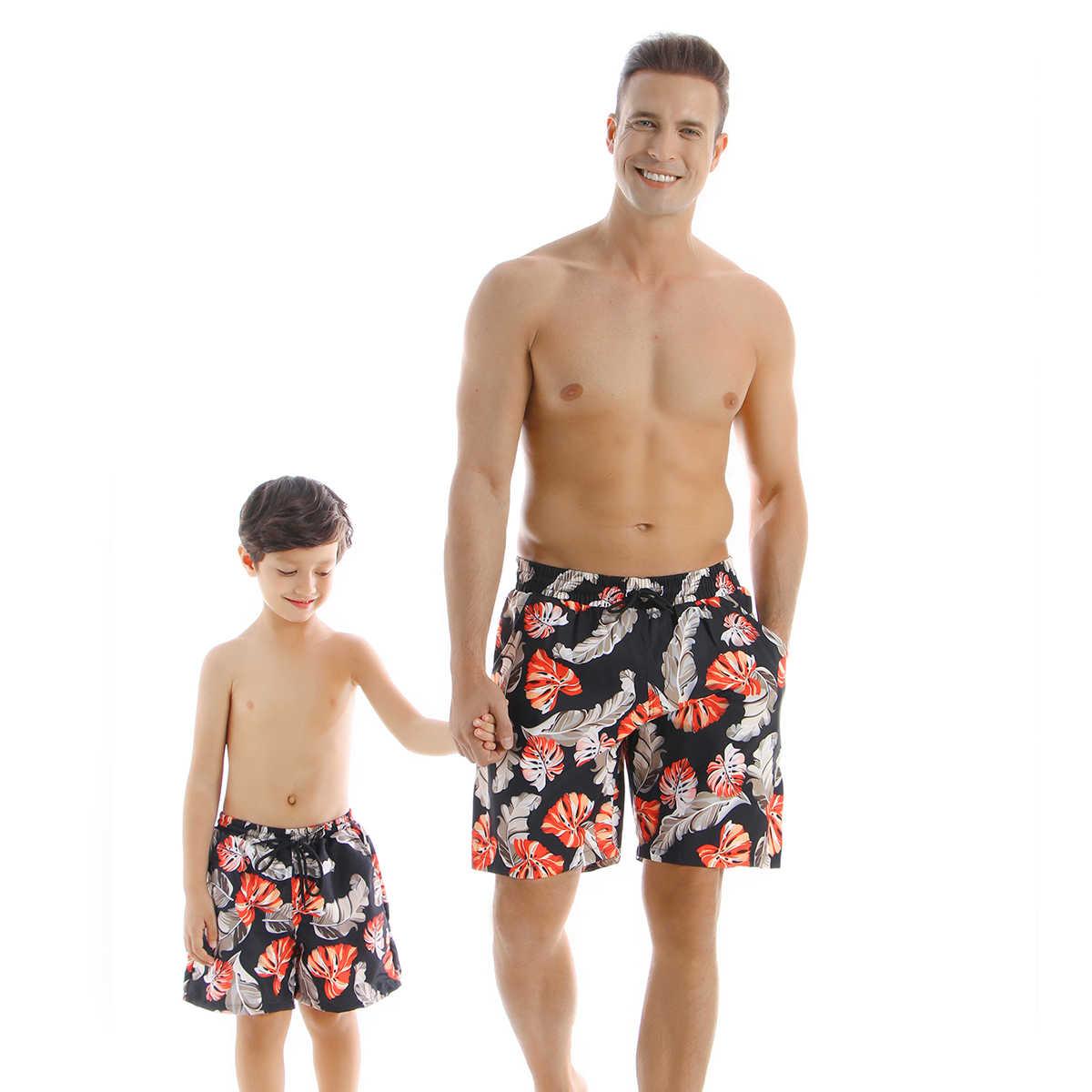 Fiore Costume Da Bagno di Famiglia Vestiti di Corrispondenza Sguardo Madre Figlia Costumi Da Bagno Mommy and Me Bikini Vestiti Padre Figlio Costume Da Bagno Abiti