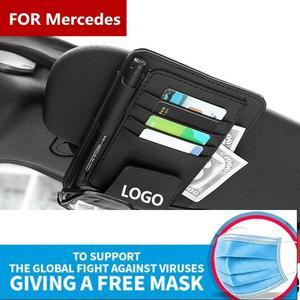 1 шт., автомобильные солнцезащитные очки, очки, оправа, зажим для глаз, коробка для хранения, принадлежности для Mercedes Benz AMG GLC GLE CLA GLA W205 W211 W213