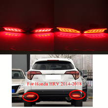 MIZIAUTO Rear Bumper Lights Brake Light For Honda HRV 2014-2018 LED DRL Reflector LED Turning Signal Light Fog Lamp Stop Lamp недорого