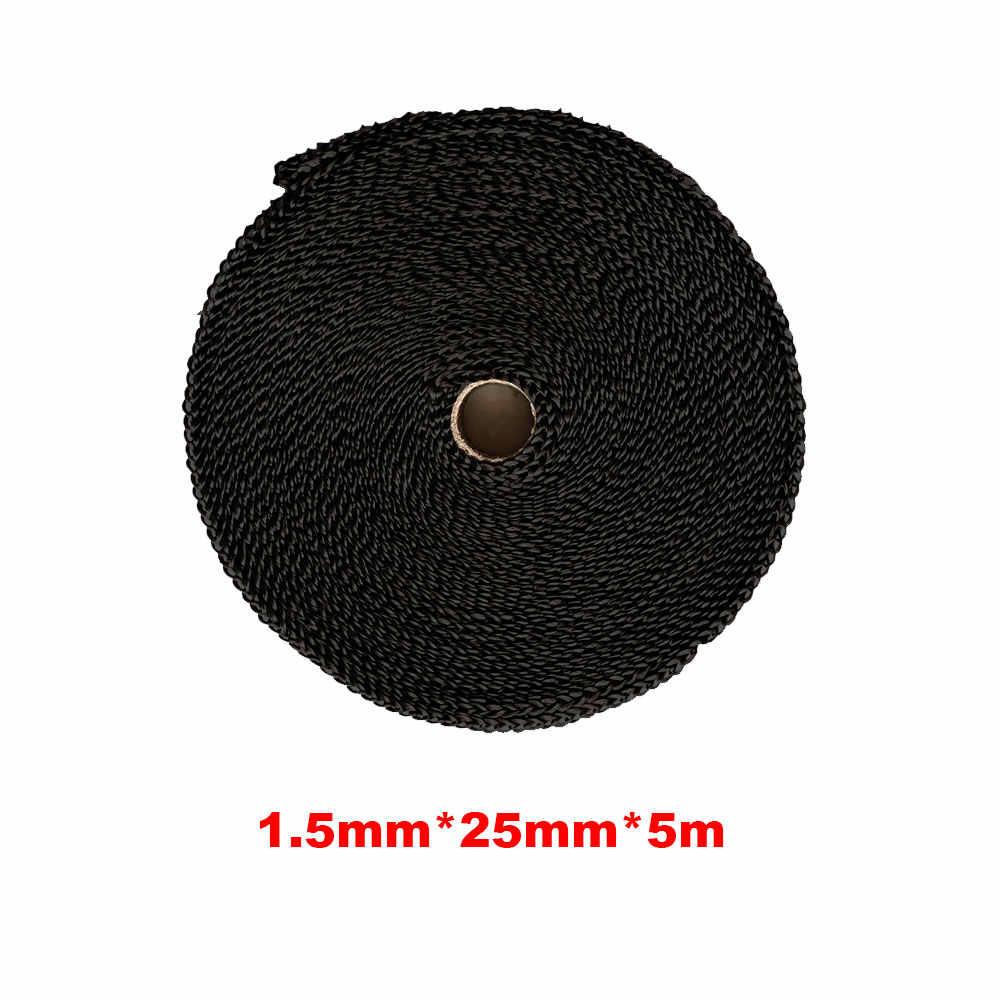 Shangjunol 5m Car Motorcycle Heat Shield Wrap Turbo Exhaust Heat Tape Pipe Wrap Manifold Header Insulation Cloth