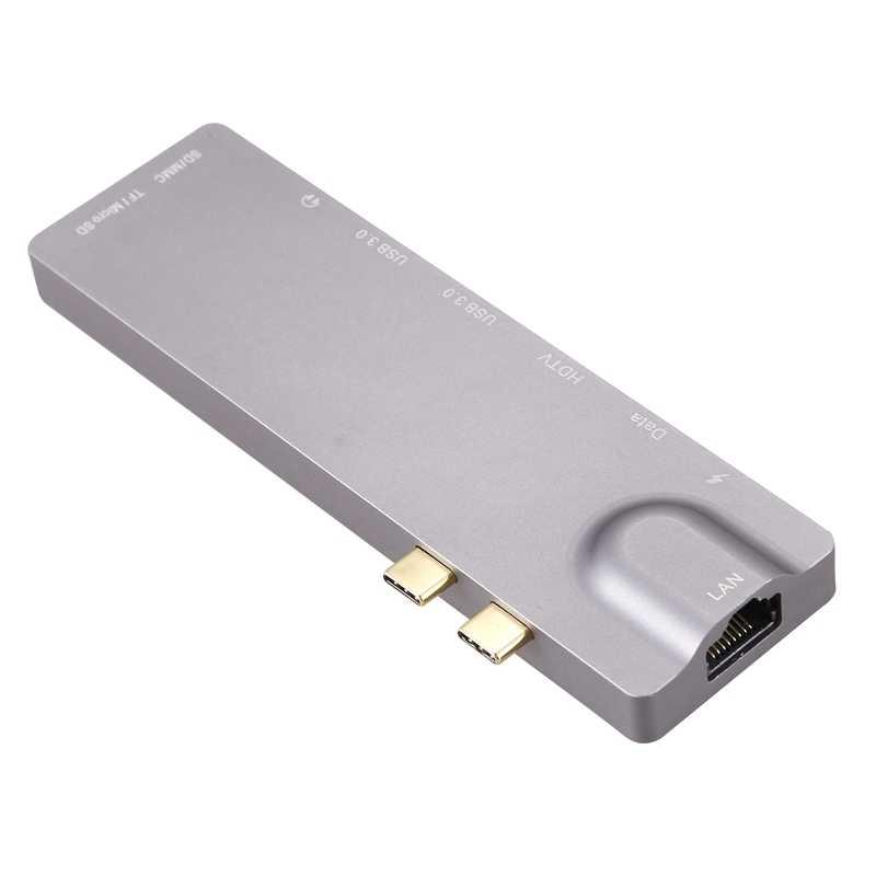 9-en-1 paire type-c station d'extension pour MacBook Pro vers HDMI