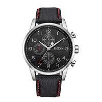 בוס Mens קוורץ שעון הכרונוגרף אופנה מגמת עור גברים של שעון ספורט שחור שעון-1513535