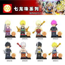 WM6032 Single Sale Super Heroes Black Goku Vegeta Vermouth Freiza Dragon Ball Z Figures Building Blocks Children Gifts Toys