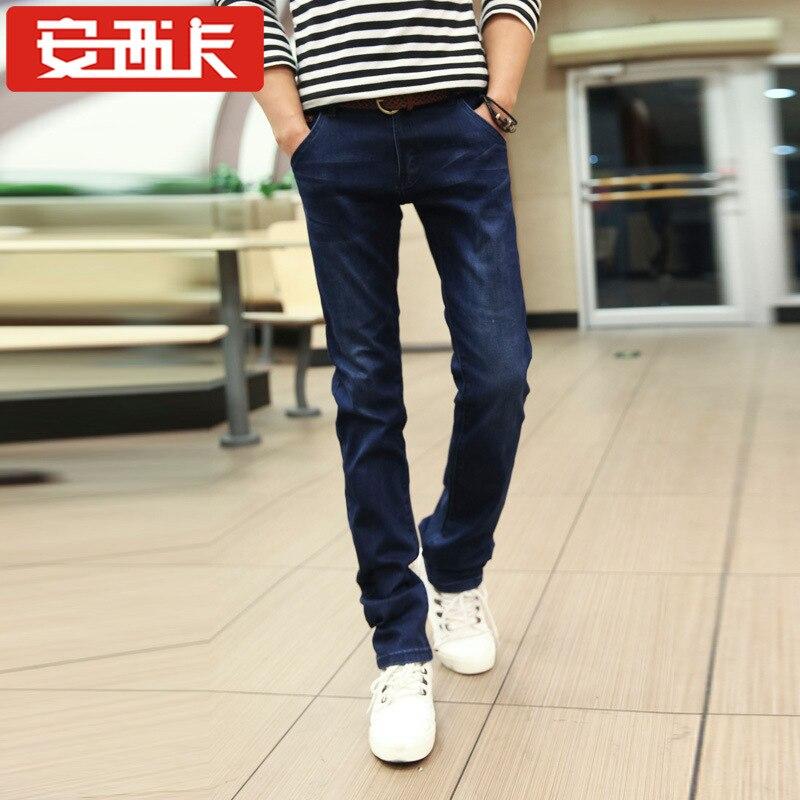 Spring New Style Straight-Cut Fashion Men Fashion Slim Women's Fashion Youth Cowboy Trousers 5003
