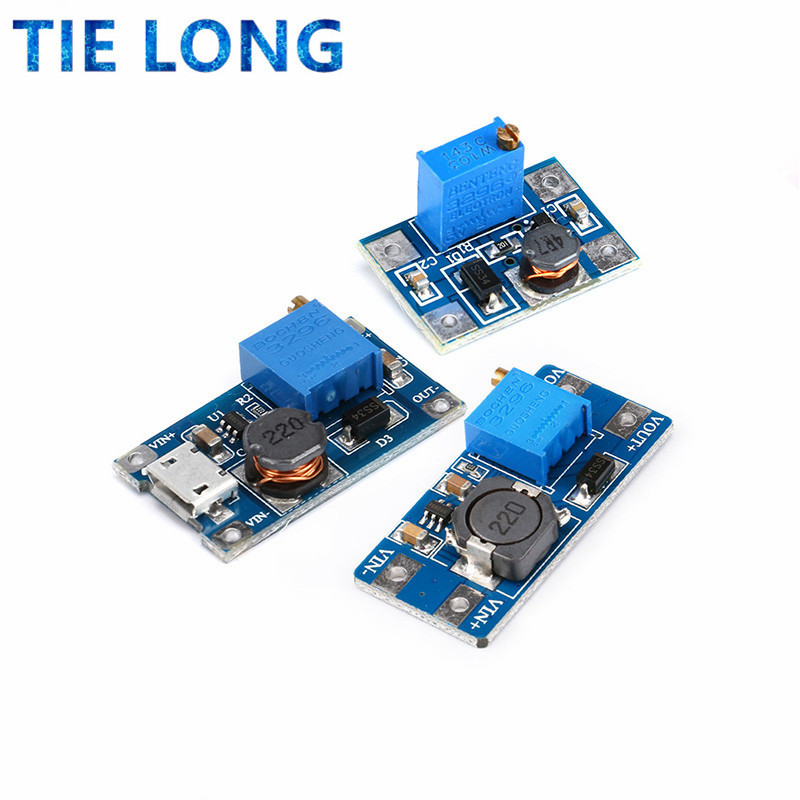 MT3608 DC-DC Step Up Converter Booster Power Supply Module Boost Step-up Board MAX output 28V 2A for arduino diy kit