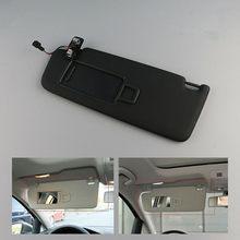 Pare-soleil intérieur noir pour VW GTI Golf MK7 VII 2014 – 2017, accessoires de voiture, pare-soleil avant gauche droit avec miroir