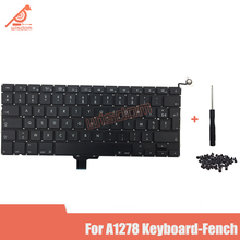 Full New A1278 French Laptop keyboard For Macbook Pro 13 A1278 French keyboard 2009 2010 2011 2012 year new for macbook pro 13 a1278 topcase palm rest keyboard backlit us uk euro eu german french danish russian spanish 2011 2012