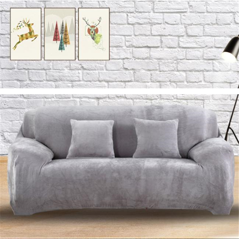 Thicken Plush Sofa Covers For Living Room Sectional Corner Furniture Slipcover Couch Cover 1/2/3/4 Seater L Shaped Corner Covers