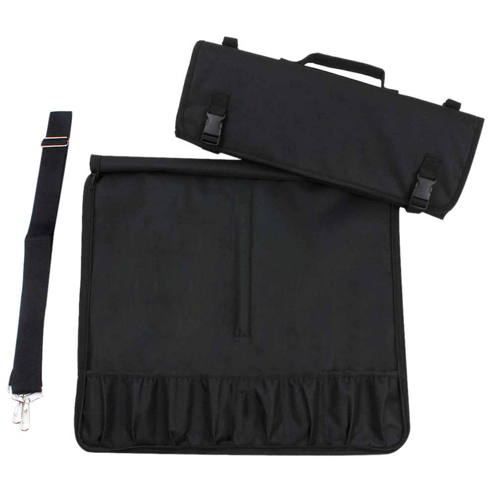 Accessories Storage 8 Pocket Slots Strap Cooking Oxford Cloth Pack Chef Knife Bag Large Capacity Roll Portable Kitchen