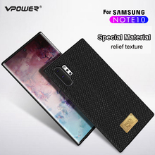 for Samsung Galaxy Note 10+ Plus Leather Case Vpower Luruxy Anti-knock PU Back Cases 10 Covers