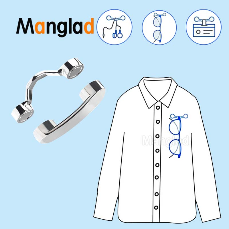 Magnetic Eyeglass Holder Clothes Clip Brooch For Hold Glasses Pen Earphone Storage Sunglasses Eyewear Bag Decoration Accessories