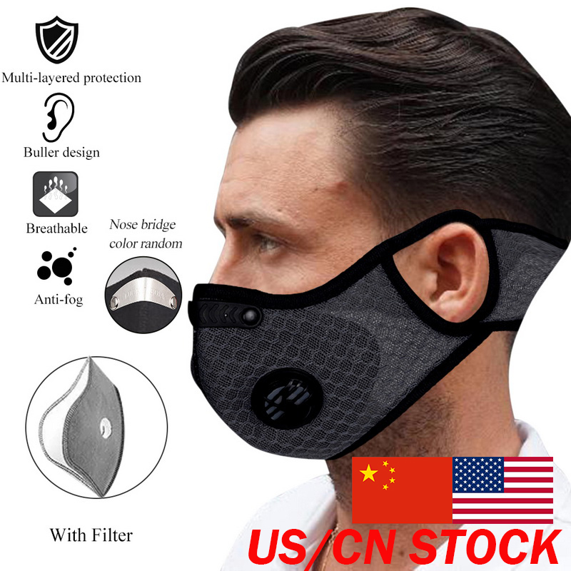 Safety Breathing Mask Cycling Half Face Mask Respirator Activated  Sports Mask For Sport OutdoorAnti Dust Mask Half Face Mask