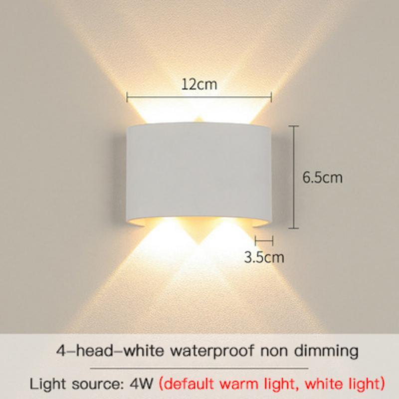 jardim interior quarto lâmpada de parede luz