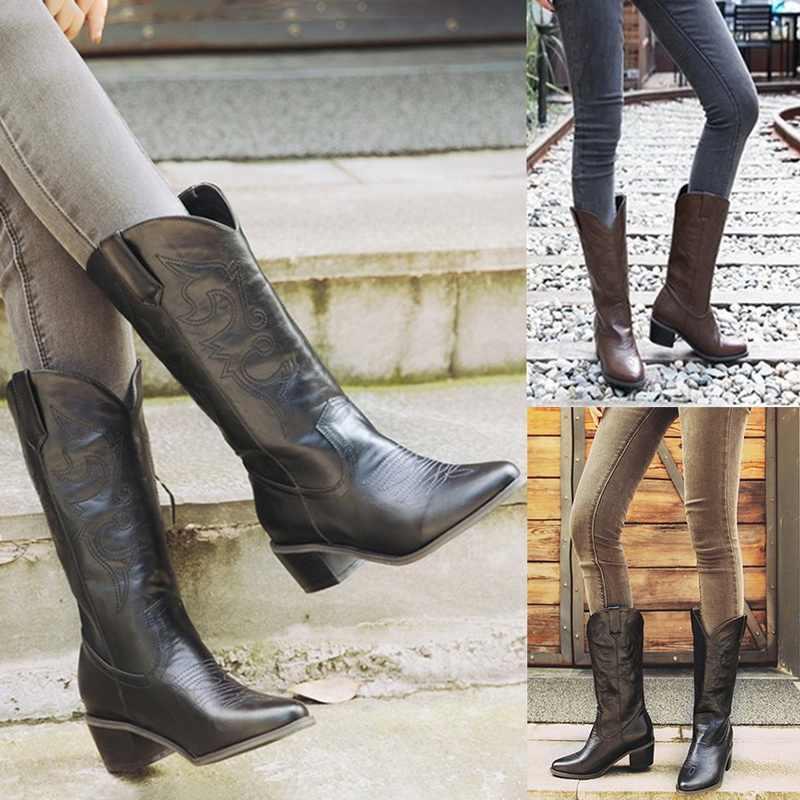 Oeak bayan botları yüksek deri çizmeler orta buzağı kış rahat süet seksi yüksek çizmeler kadın kış ayakkabı sıcak moda