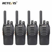 PMR راديو لاسلكي تخاطب 4 قطعة RETEVIS H777 زائد PMR446 H777 FRS اتجاهين راديو شاحن يو اس بي محمول لاسلكي للصيد