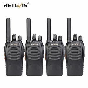 Image 1 - PMR Radio Walkie Talkie 4pcs RETEVIS H777 Plus PMR446 H777 FRS Two Way Radio USB Charger Portable Walkie talkies for Hunting