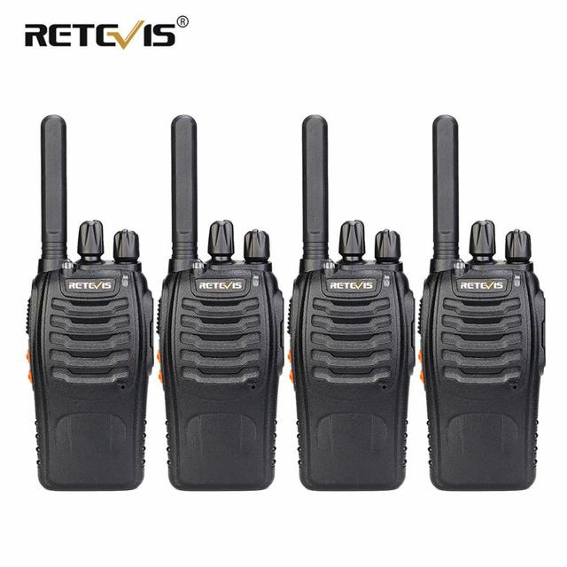 PMR Radio Walkie Talkie 4pcs RETEVIS H777 Plus PMR446 H777 FRS Two Way Radio USB Charger Portable Walkie talkies for Hunting