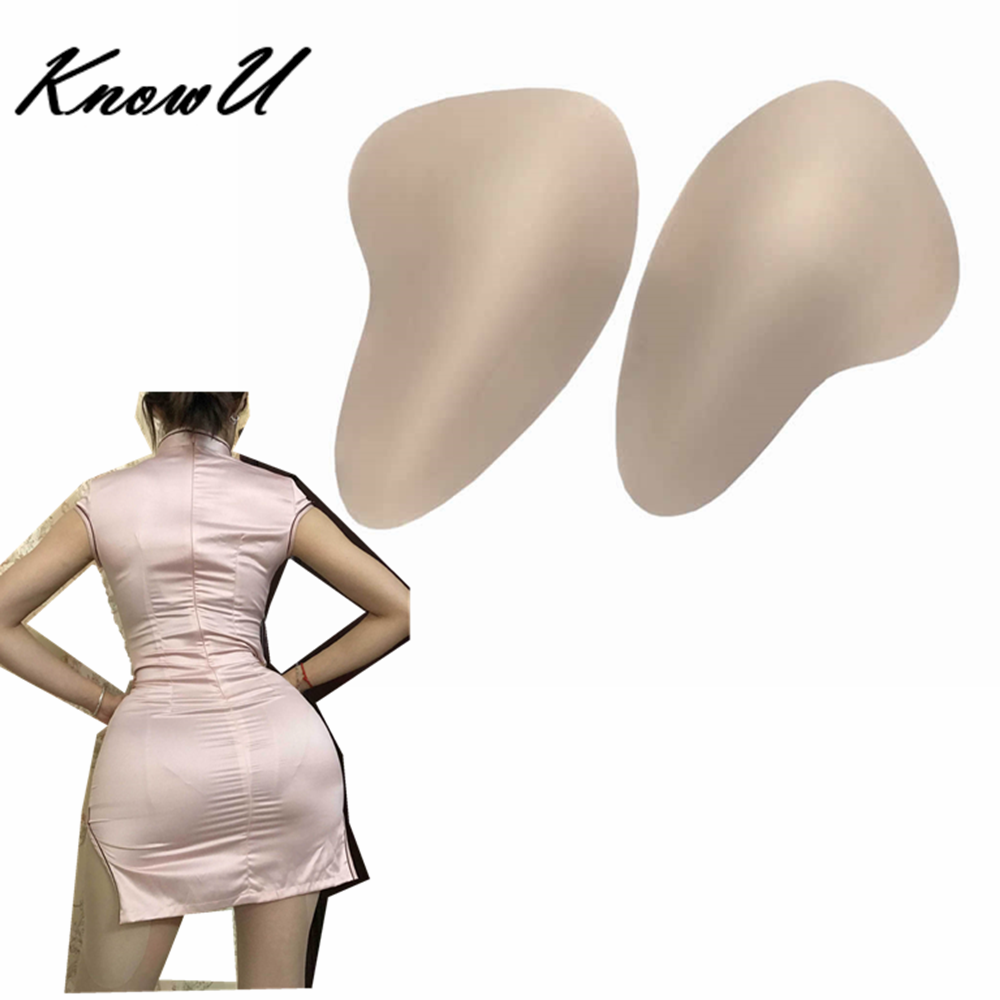 KnowU Full Shapely Sexy Sponge Hip Pads Removable Enhanced Fake Buttocks Crossdress Shemale Cosplay Transgender Cosplay