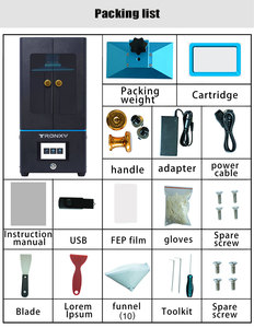 Image 5 - TRONXY Ultrabot SLA 3D Printer UV Resin 2K LCD 3D Printers Off Line Printing Impresora 3d Drucker Printer Kit Impressora Resina