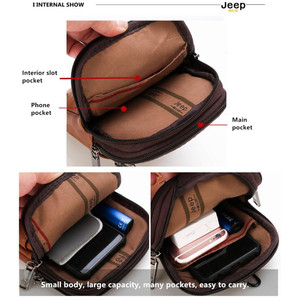 Image 4 - Jeepbuluo Mannen Crossbody Tas Kleine Multifunctionele Sling Borst Bag Benen Taille Tas Voor Man Nieuwe Mode Mini Casual daypacks Unisex