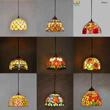 Stained Glass Chandelier Window-Lighting Tiffany-Style European Antique Restaurant American