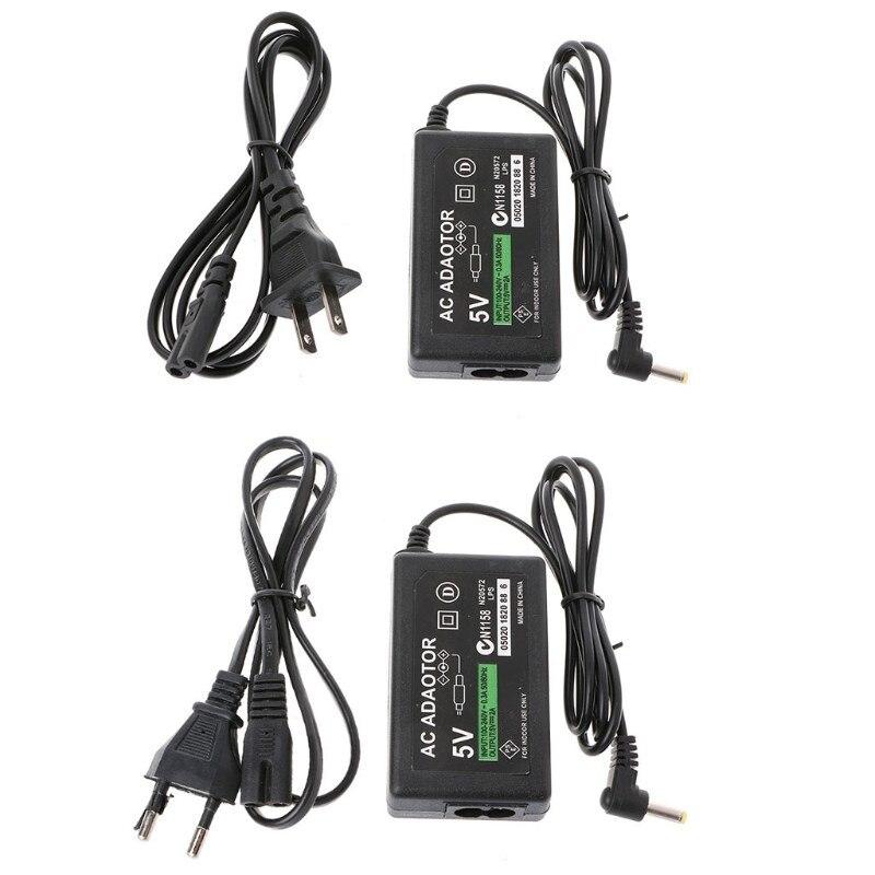 Cargador de pared adaptador de CA Cable de fuente de alimentación para PSP 1000 2000 3000 enchufe EU/US Cargador inalámbrico KUULAA Qi para iPhone 11 Pro 8 X XR XS Max 10W carga rápida inalámbrica para Samsung S10 S9 S8 cargador USB Pad