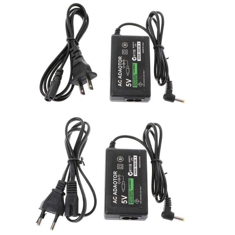 Wall Charger <font><b>AC</b></font> Adapter <font><b>Power</b></font> Supply <font><b>Cable</b></font> For PSP 1000 2000 3000 <font><b>EU</b></font>/US Plug image
