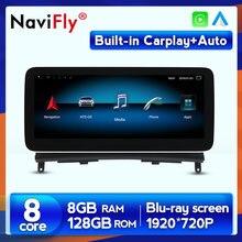 Ekran antyodblaskowy Carplay 8G RAM 128G ROM Radio samochodowe GPS Multimedia dla Mercedes Benz klasa C W204 S204 2008 2009 2010 w204