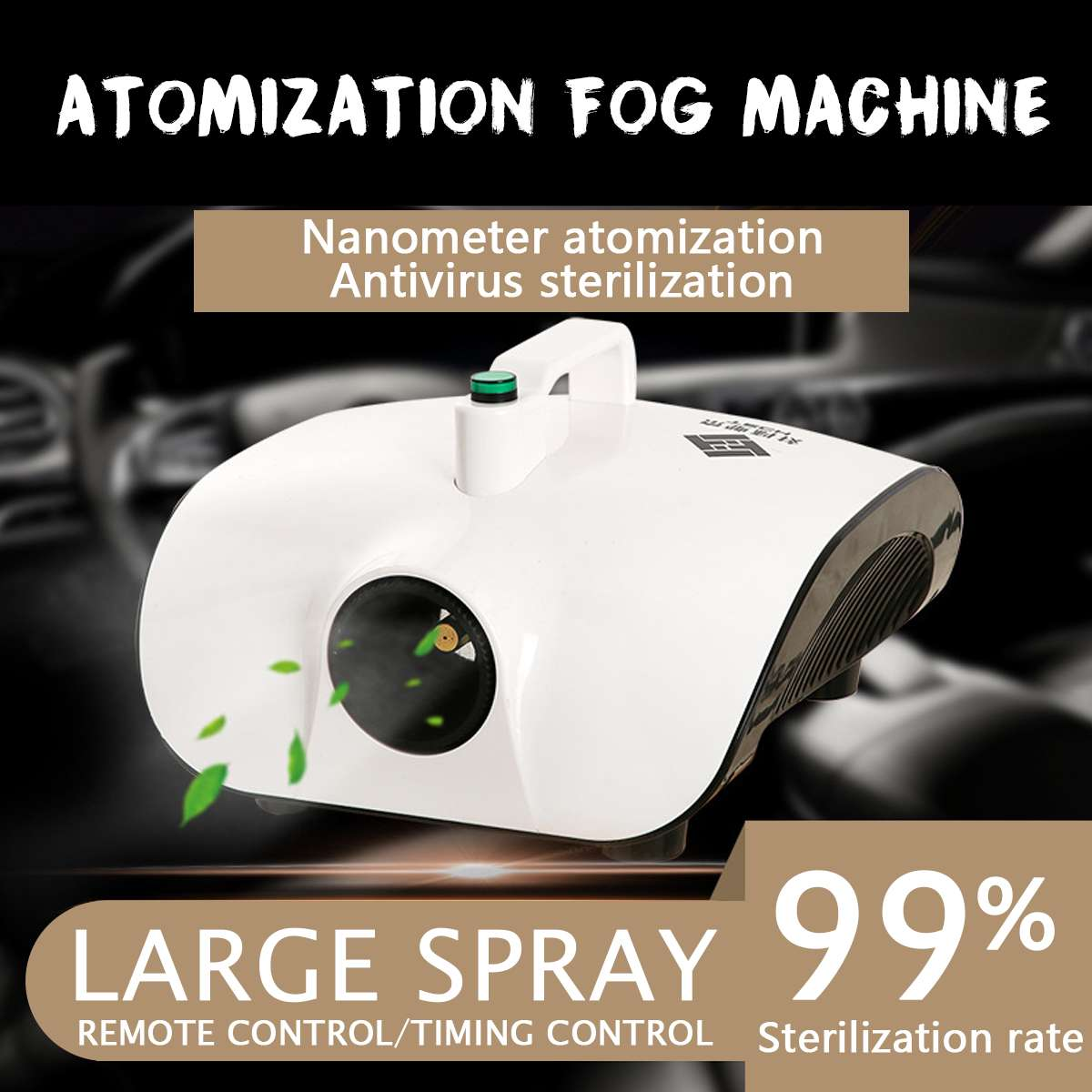 220V Portable Atomization Sterilizer Kill Bacterial Remove Peculiar Smell Remote/Timing Fog Machine Good Use For Car Room Office