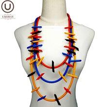 Ukebay Новые ожерелья с подвесками разноцветные цепи на свитер