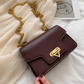 2020 Real Bolsos Mujer Pu Leather Women Messenger Bag Designer Crossbody Flap Female Shoulder Solid Color Handbags Single Soft