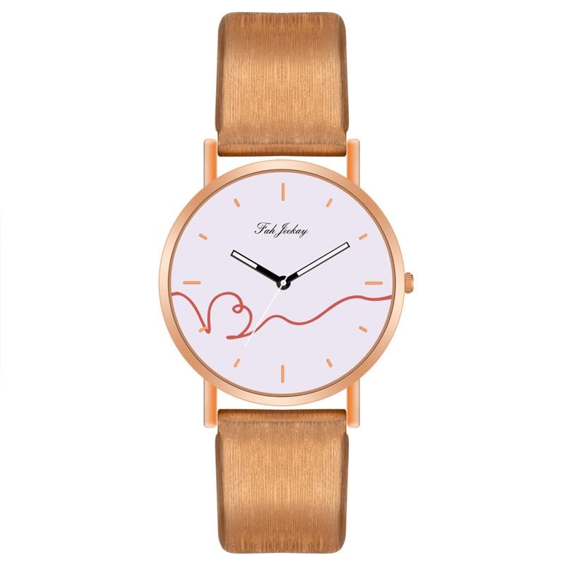 WJ-8733, модные парные часы, повседневные наручные часы с кожаным ремешком для мужчин и женщин, Простые Классические наручные часы для влюбленных, кварцевые часы - Цвет: Gold White 2