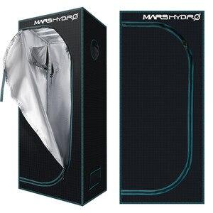 Image 3 - 1680D Mars Hydro 60x60x140cm LED Grow Tent box Indoor Hydroponics garden Water proof hut Diamond Reflective Mylar grow room
