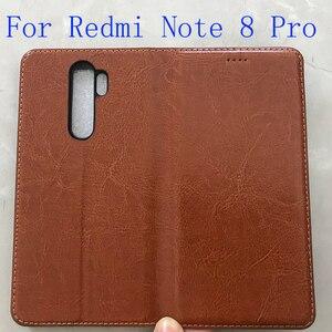 Image 2 - Nam Châm Đá Tự Nhiên Da Lật Ví Sách Ốp Lưng Điện Thoại Nắp Dành Cho Xiaomi Redmi Note 8 PRO 8T T Note8 Note8T 64/128 GB