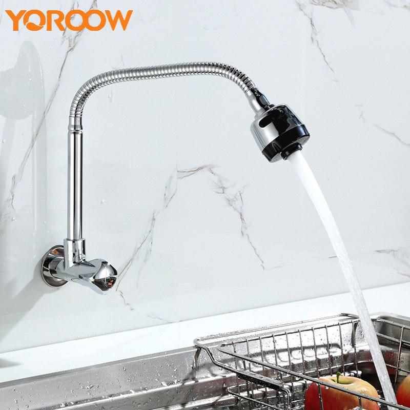 Robinet coulissant noir robinets de cuisine mural pour évier argent cuisine-robinets Extension pivotant robinet d'eau lavage ALH0016 3